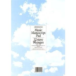 WOODSTOCK MUSIC MANUSCRIPT PAPER  12 STAVE   96 PAGES (A4)
