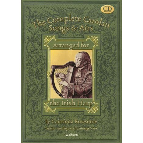 Rowsome | The Complete Carolan Songs & Airs Arranged for Irish Harp & 4 CDs