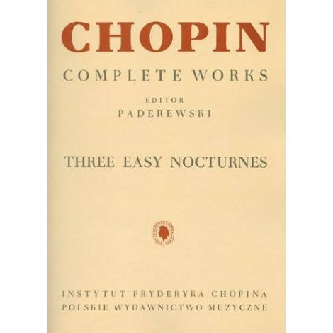 3 Easy nocturnes (from complete works, volume 7)