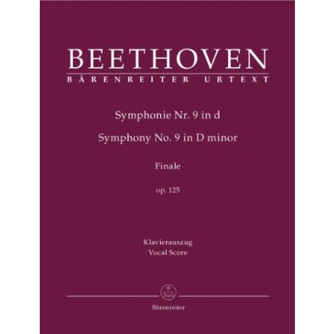 "Beethoven Symphony No. 9 in D minor, Op.125 ""Choral"" (Vocal Score) Urtext"