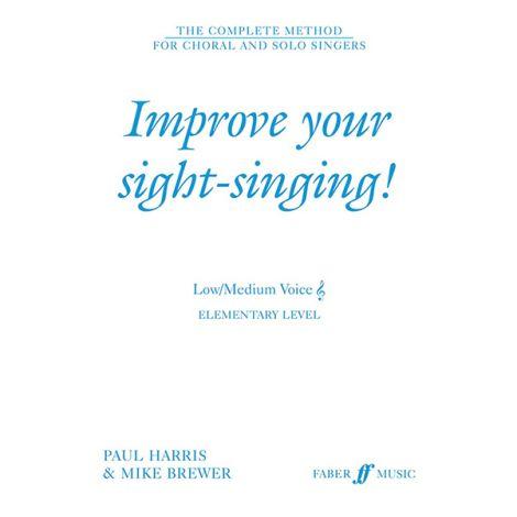 Improve Your Sight-Singing! Elementary - Low/Medium Voice (Treble)