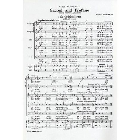 Benjamin Britten: Sacred And Profane (SSATB)