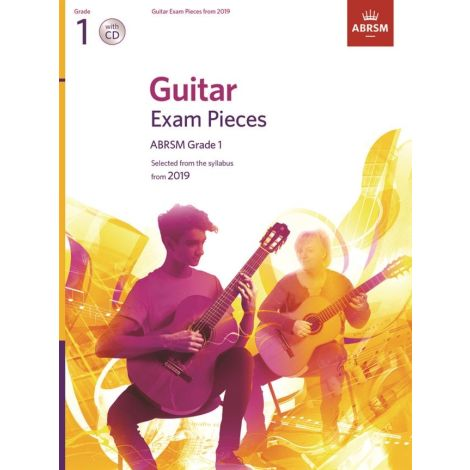 ABRSM Guitar Exam Pieces From 2019 - Grade 1 Version With CD