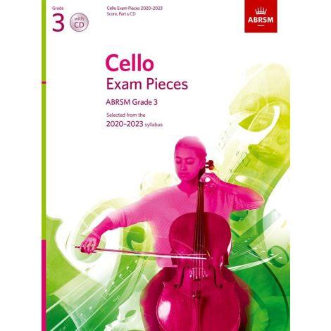 ABRSM Cello Exam Pieces 2020-2023 Grade 3 Score  Part And CD