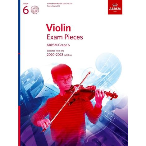 ABRSM Violin Exam Pieces 2020-2023 Grade 6 Score Part And CD
