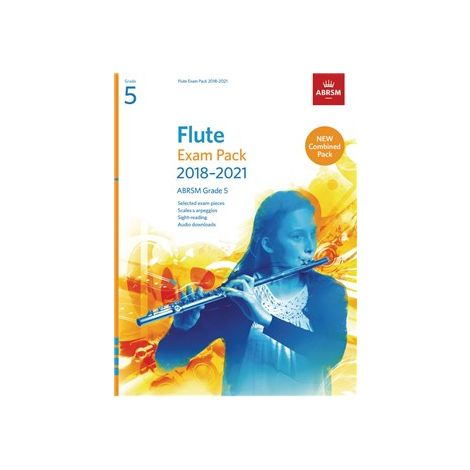 ABRSM EXAM PACK SCALES SIGHT-READING 2018-21 GR 5 FLUTE/PF BOOK/AUDIO