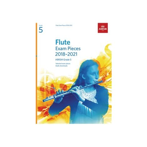 ABRSM EXAM PIECES 2018-2021 GRADE 5 FLUTE/PIANO BOOK/AUDIO ONLINE