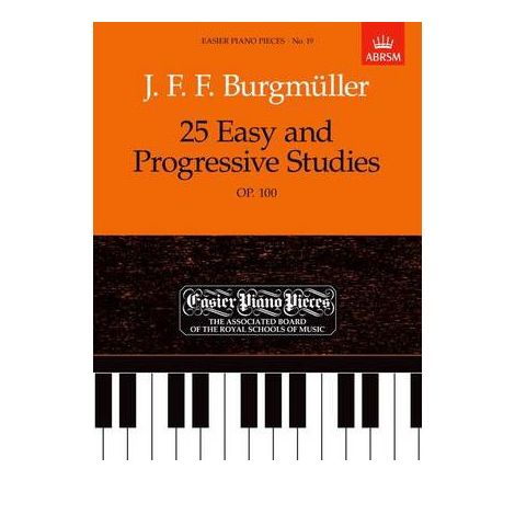 25 Easy and Progressive Studies, Op. 100 for piano