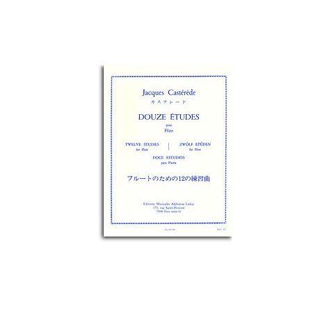 Jacques Cast闂備浇鍋愰崢褍鐣甸幇鐗堢厽婵ê宕懘鐥: Twelve Studies (Flute)