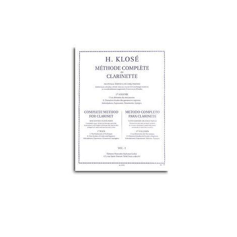 Hyacinthe Klos闂 - M闂備浇鍋愰崢褍鐣甸幓绶奷e Compl闂備胶绮銊╃嵁閹 De Clarinette, Vol. 1