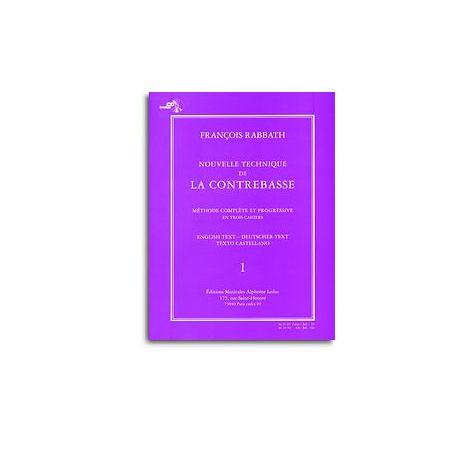 Nouvelle Technique De La Contrebasse Volume 1 Avec Cd