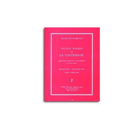 Fran闂備胶鍘ф晶浠嬫焾缁旀敃 Rabbath - Nouvelle Technique De La Contrebasse , Vol. 2