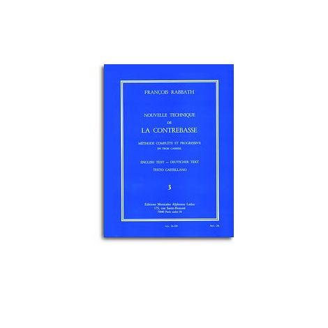 Fran闂備胶鍘ф晶浠嬫焾缁旀敃 Rabbath - Nouvelle Technique De La Contrebasse , Vol. 3