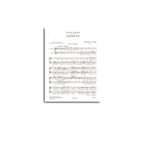 Marcel Dupre: Laudate Dominum Op. 9 No.4 (SA Chorus Parts)