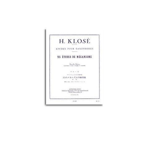 Hyacinthe Klos闂 - Vingt-Cinq 闂備浇鍋恉es De M闂備浇鍋愰崢褍鐣烽幎濯檌smes Pour Saxophones