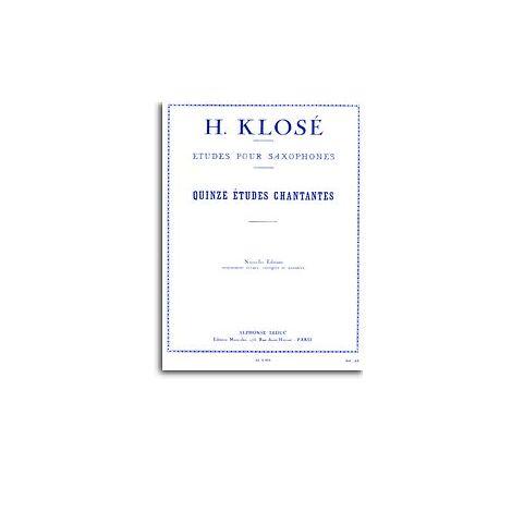 Hyacinthe Klos闂 - Quinze 闂備浇鍋恉es Chantantes Pour Saxophones