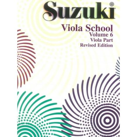 Suzuki Viola School (Viola Part) Volume 6 Revised Edition