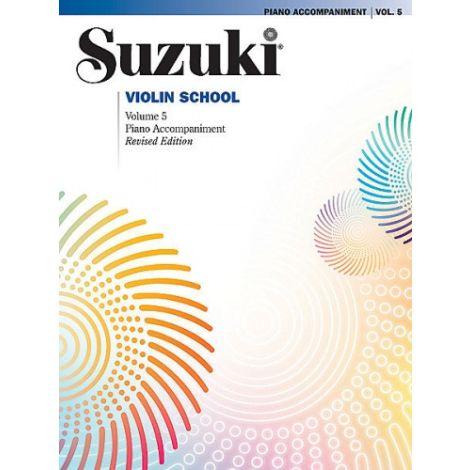 Suzuki Violin School - Volume 5 (Piano AccompanimeNT) REVISED EDITION
