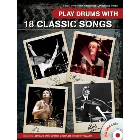Play Drums With 18 Classic Songs