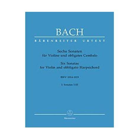 Bach Six Sonatas for Violin, Vol. 1 (BWV 1014-1016)