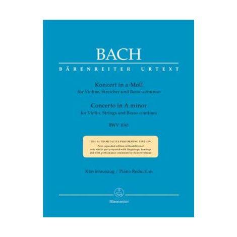 Bach Violin Concerto in A minor BWV 1041 - violin & piano