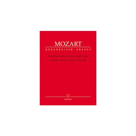 Mozart Complete Works for Violin & Piano, Vol. 1