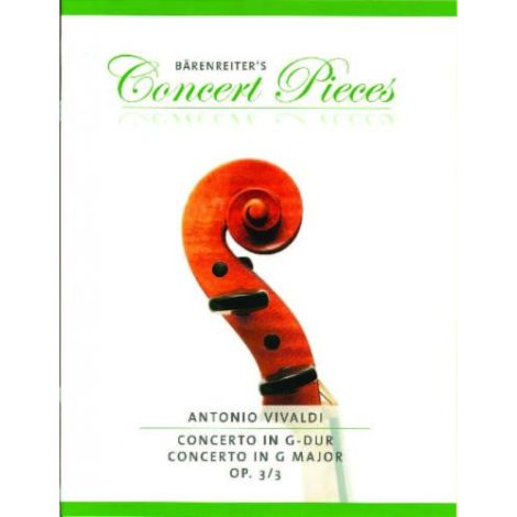 Vivaldi: Concerto in G Major Op. 3/3 for Violin &