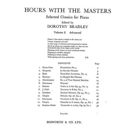 Hours With The Masters Volume 6