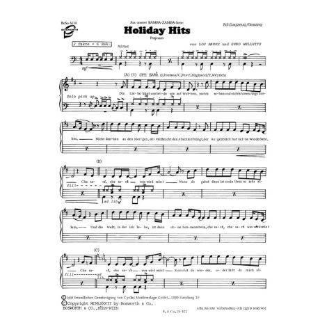 Zobel, G Griechische Melodienreise /Barks, L Holliday Hits Tocm Bnd