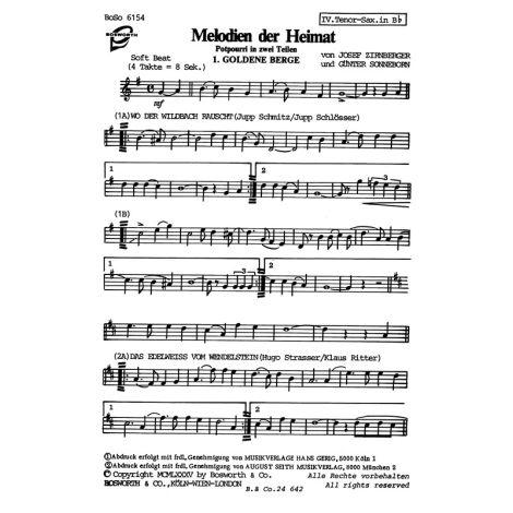 Zirnberger, J/Sonneborn Melodien Der Heimat 1 & 2 Tocm Bnd