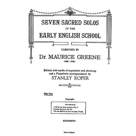 Greene: Seven Sacred Solos - High Voice (Roper)