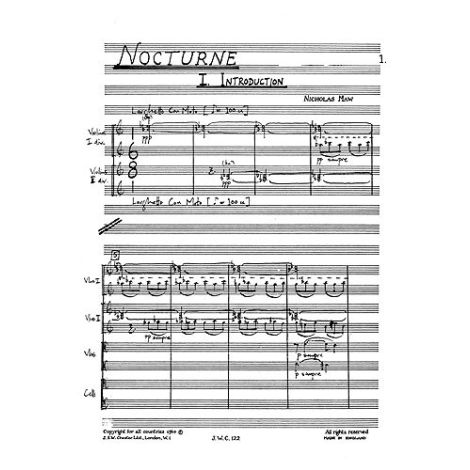 Nicholas Maw: Nocturne (Miniature Score)