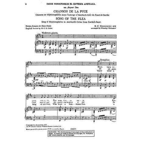 Modest Mussorgsky: Song Of The Flea (Baritone/Piano)
