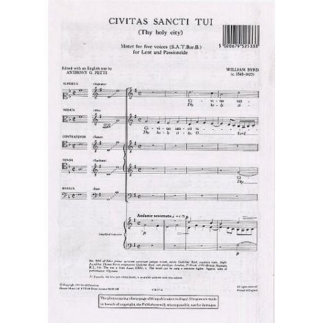 William Byrd: Civitas Sancti Tui