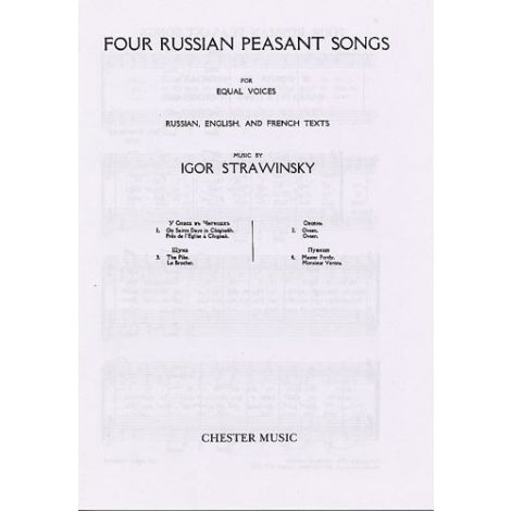 Igor Stravinsky: Four Russian Peasant Songs (Upper or Lower Voices)