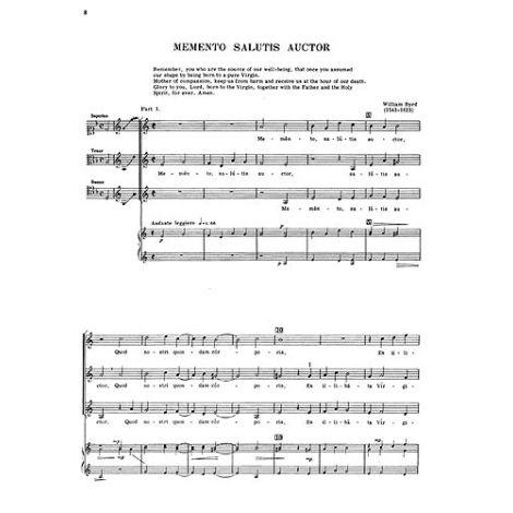 William Byrd: Memento Salutis Auctor