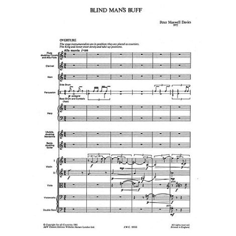 Maxwell Davies: Blind Man's Buff (Full Score)