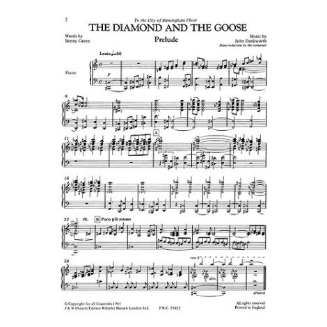 John Dankworth: The Diamond And The Goose (Vocal Score)