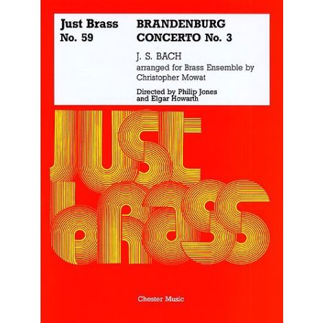 JS Bach: Brandenburg Concerto No.3 - Score And Parts (Just Brass No.59)