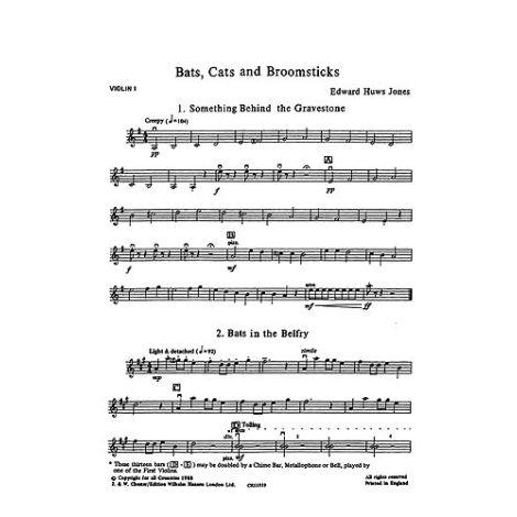Playstrings No. 15 Bats, Cats And Broomsticks (Huws Jones)