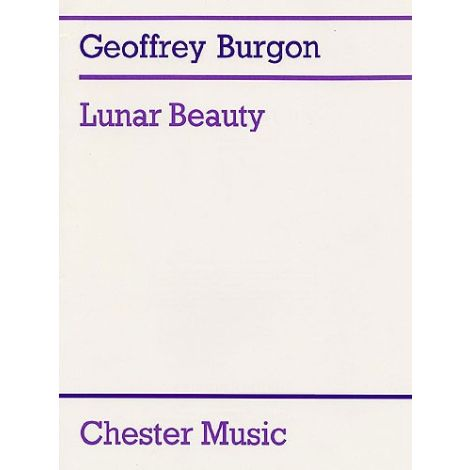 Geoffrey Burgon: Lunar Beauty (Tenor or Medium Voice/Guitar)