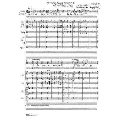 Nyman: Self Laudatory Hymn Of Inanna (Score)