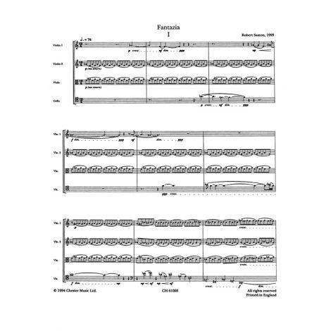 Robert Saxton: Fantazia For String Quartet (Score)