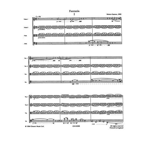 Robert Saxton: Fantazia For String Quartet (Score And Parts)