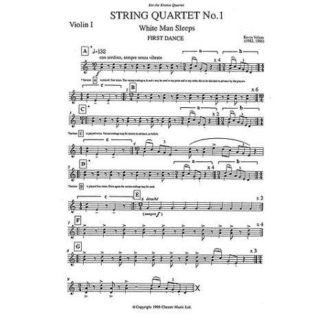 Kevin Volans: String Quartet No. 1 White Man Sleeps (Parts)