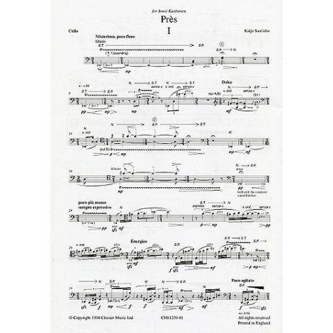 Kaija Saariaho: Pres (Cello Part)