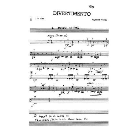 Premru: Divertimento 10 Parts (9 Movements) (Parts)