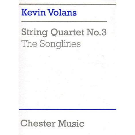 Kevin Volans: String Quartet No.3 'The Songlines' (Score)