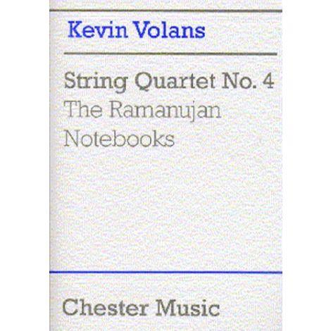Kevin Volans: String Quartet No. 4 'The Ramanujan Notebooks' (Score)