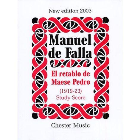 Manuel De Falla: El Retablo De Maese Pedro (Study Score)